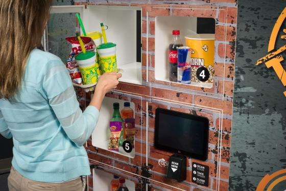 Restaurants and foodservice brands use the AnyWhere Flow-Thru lockers, whose two-sided design creates an efficient workflow for preparing orders.
