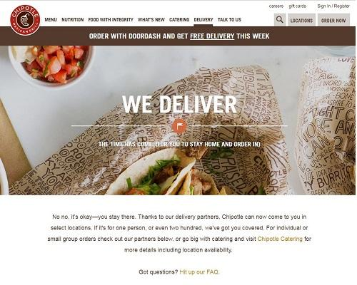 Chipotle Teams Up with DoorDash for Delivery | Hospitality