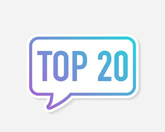 top 20 list stock art