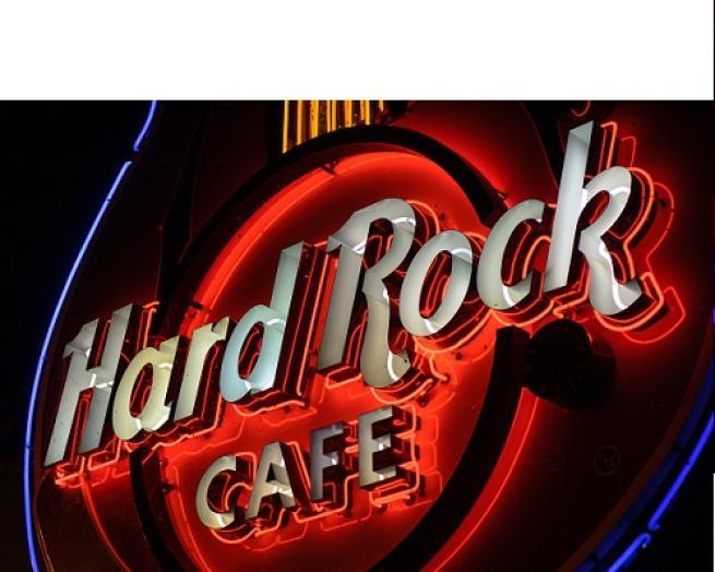 hard rock cafe sign