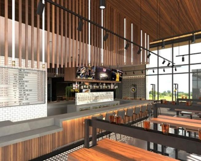 Dog Haus redesigned dining room